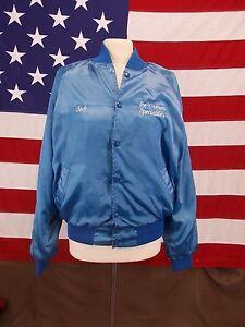 Vintage-ICE-CREAM-SPECIALTIES-Coat-Jacket-Todd-Sportswear-Light-Blue-Sz-M-Men-039-s