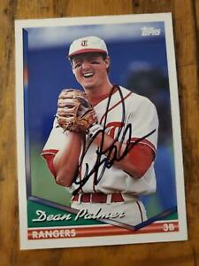 Dean Palmer ~ Texas Rangers ~ 94 Topps ~ Signed Autographed Card MLB