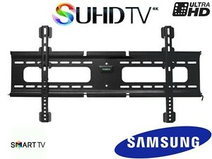ultra slim fixed samsung tv wall mount 40 49 50 55 60 65 inch qled lcd uhd 4k ebay. Black Bedroom Furniture Sets. Home Design Ideas