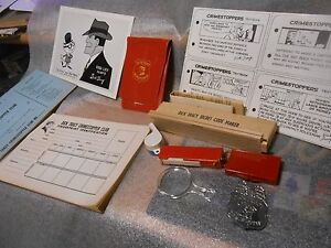 Vintage 1961 Dick Tracy Crimestopper Club Give Away Detective Kit in Sealed Box