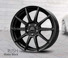 Set of 4 MOMO Car Wheel Rim 16 x 7 Rush - Black - 5 x 114.3 - RU70651442B