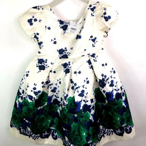NEW Janie /& Jack Girls Special Occasion Dress Ivory Floral 12-18 mo 3 $89 2T