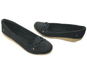 Grasshopper Black Canvas Slip On Shoes