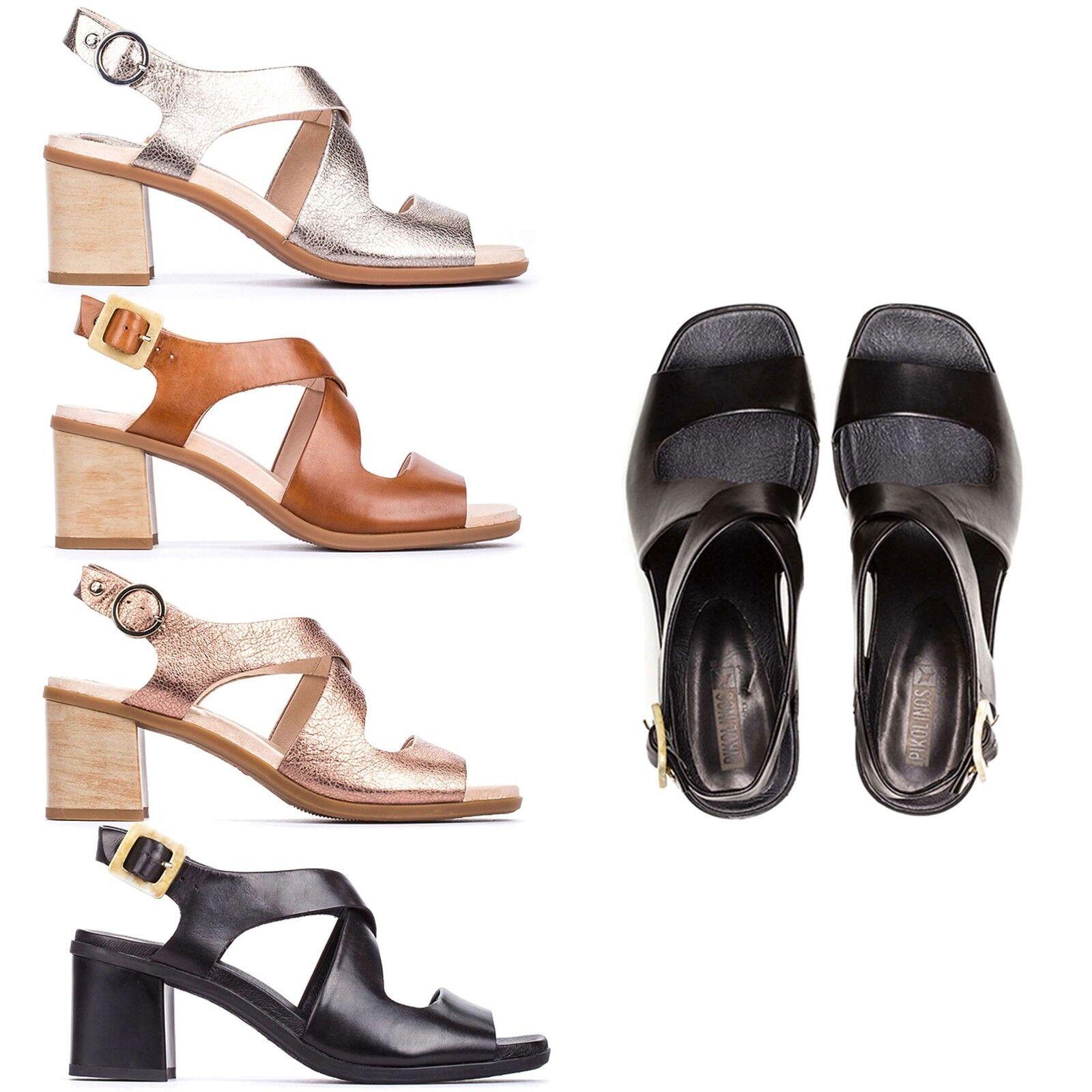 NEW Pikolinos Damens's Sandales Denia Comfort Leder Schuhes 2.75 '' Heel