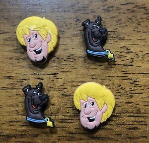 Scooby Doo 4pc SHOE CHARMS LOT Fits CROC SHOES /& JIBBITZ BRACELETS