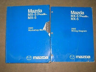 Mazda Mx 5 Miata 2003 Dealer Workshop And Wiring Diagram Manuals Ebay