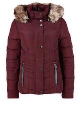 s. Oliver Outdoors Damen Daunenjacke mit Fake Fur Gr. 34 Jacke Weinrot D514