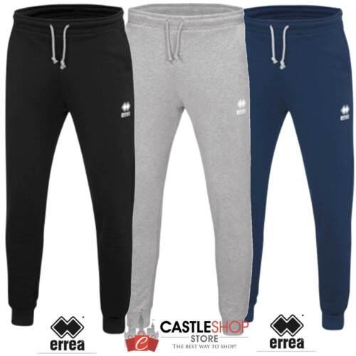 Errea Denali pantalone lungo polsino uomo nero blu grigio 80/% cotole 20/% poly