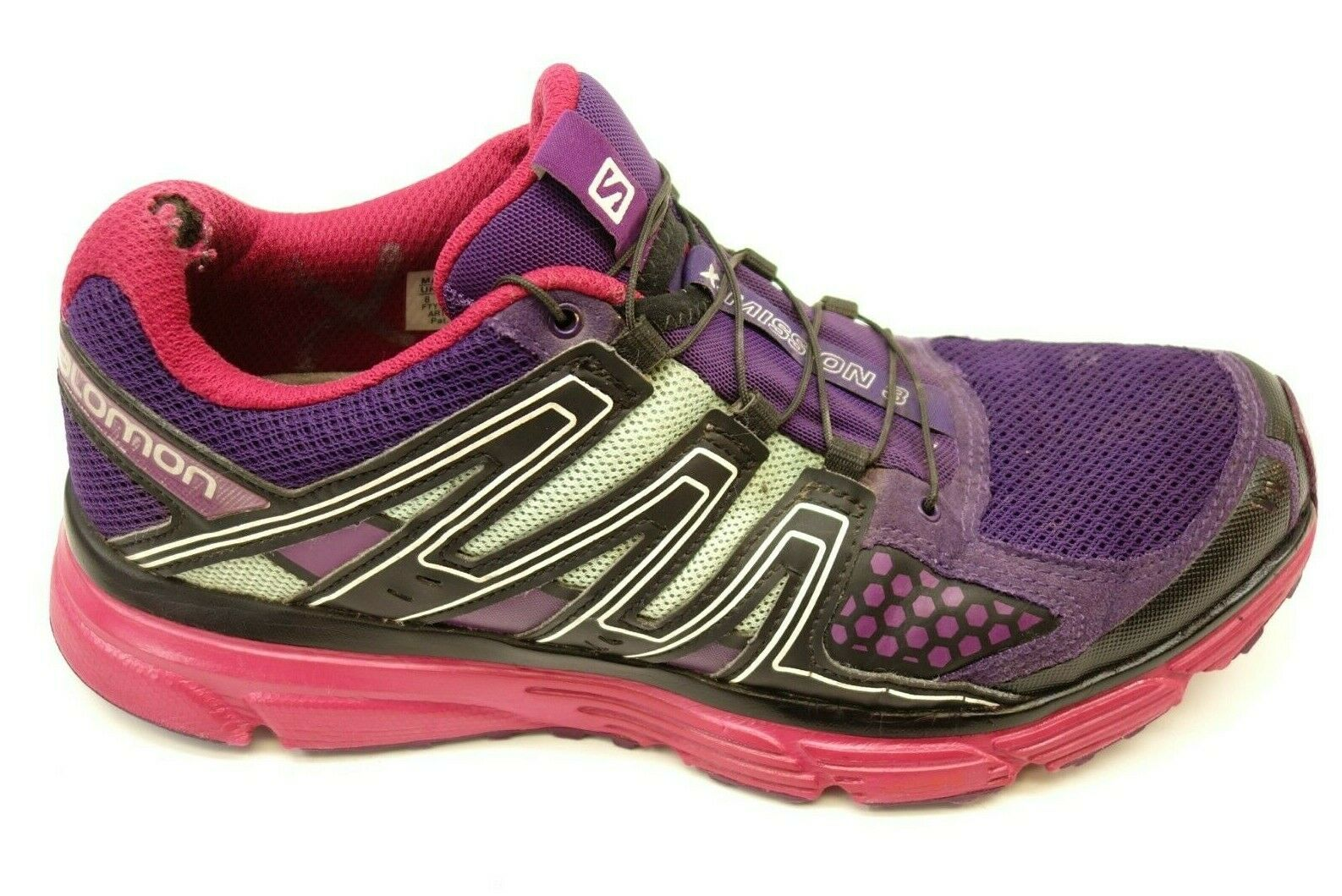 Salomon Womens Size 9.5 X-Mission 3 Contra-Grip Breathable Trail Running shoes