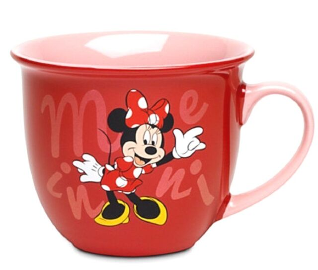 Disney Minnie Mouse Coffee Mug Cup Red Pink