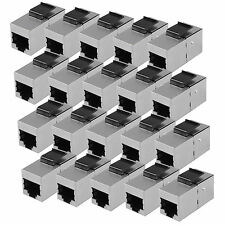 CAT5 RJ45 Shielded Keystone Coupler Network Outlet 20 Pack