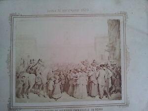 ANTICA-FOTOGRAFIA-PRIMA-VISITA-DI-VITTORIO-EMANUELE-IN-ROMA-AL-CAMPIDOGLIO-1870