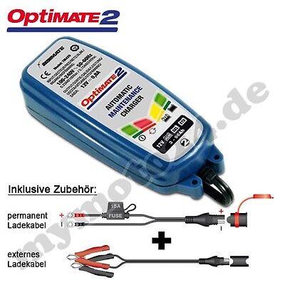 Batterieladegerät Tecmate OptiMate 2 Erweiterte 12V-Akkupflege SAE-Stecker