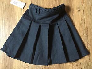 NEW F&F Signature Navy Blue Non Iron Dirt Defence Adjustable Waist School Skirt