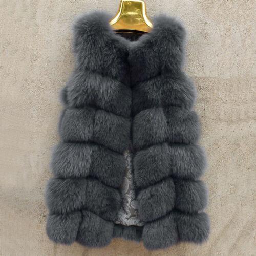 Real Vulpes lagopus Authentique ensemble Fox fourrure gilets veste sans manches gilet meilleur cadeau de Noël
