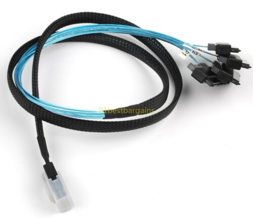 4 Mini SAS 36P SFF-8087 to SFF-8482 Connectors with 4P Power Cable 1M