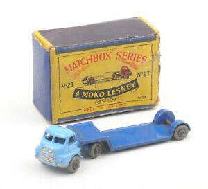 Matchbox-Lesney-1-75-Series-27a-Pale-Dark-Blue-Bedford-Low-Loader-BOXED