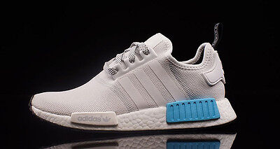Adidas NMD R1 Mesh White Cyan Blue Size