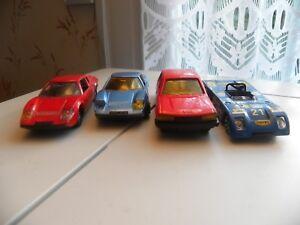 4-Voitures-Miniatures-Norev-dans-l-039-etat-1-43-2-Ligier-Chevron-Peugeot