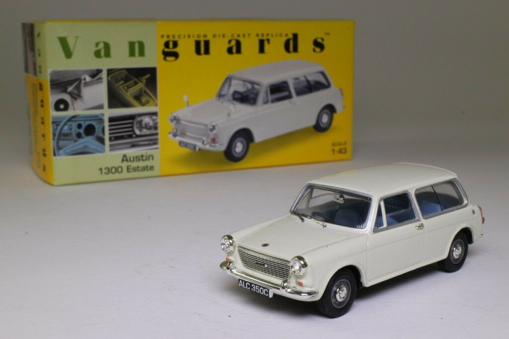 AUSTIN 1300 ESTATE SNOWBERRY blanc VANGUARDS 1 43 UK UNITED KINGDOM ENGLAND