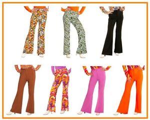 f0b287884e2b9 Details zu Schlaghose Damen Hose 60er / 70er Jahre Hippie Retro Kostüm  Karneval , (K)