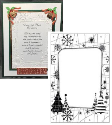 Snow Tree Frame embossing folder CTFD4027 Crafts Too embossing folders Christmas