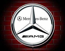 MERCEDES AMG LARGE LED 2FT ILLUMINATED GARAGE WALL LIGHT BADGE SIGN LOGO EMBLEM