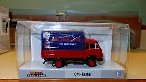 Brekina-OM-Lupetto-rosso-e-telone-blu-CAFFE-039-BORBONE-HO-1-87-Edizione-Limitata