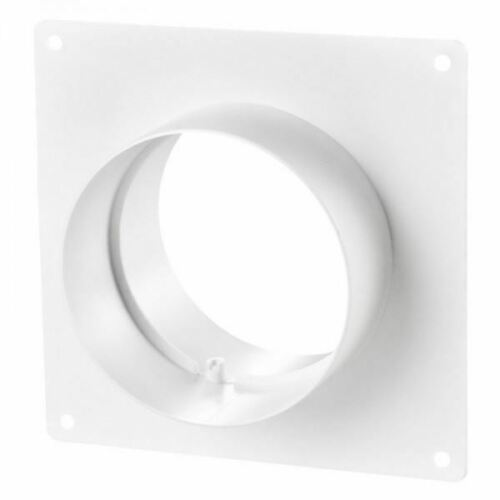 Blauberg Round 100mm Circular Ducting Wall Mounting Plate with Spigots