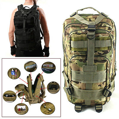 Military Tactical Rucksack Backpack Camping Hiking Trekking Outdoor Sport Bag 1*