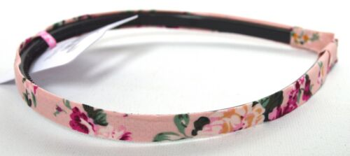 NEW 1cm wide Pink floral fabric aliceband headband