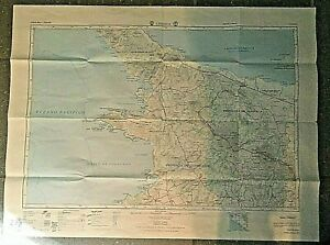 Vintage-Costa-Rica-Map-1965-North-Guanacaste-Province-Nat-039-l-Geog-in-Spanish