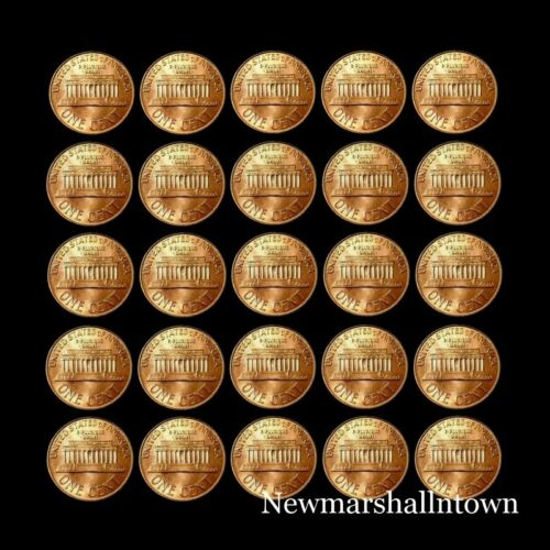 1980-1999 P+D Lincoln Mint Set Roll of 45 Coins ~ Includes 1982 Variety of 7