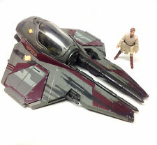 STAR WARS - OBI WAN KENOBI figure & JEDI FIGHTER ship vehicle
