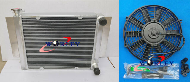 3 Row Aluminum Radiator+Fan for Mazda RX2 RX3 RX4 RX5 RX7 without Heater Pipe MT