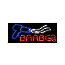Brand New Barber Logo 27x11 Solid Amp Animated Led Sign Withcustom Options 20385