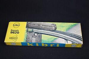 W158-KIBRI-Train-Maquette-9620-Pont-ferroviaire-courbe-droit-diorama-pas-complet