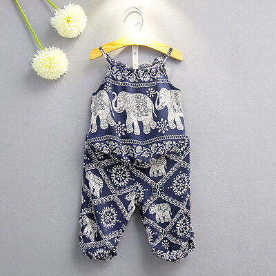 Baby Girls Flower 2PCs Outfits Set Kids Newborn Clothes Shirt Tops Dress Summer