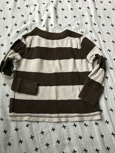 NWT Old Navy Toddler Boy Striped Long Sleeve Sweater Gray or Navy 4T 100/% Cotton