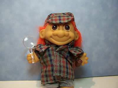 "DETECTIVE SHERLOCK HOLMES 5/"" Russ Troll Doll NEW IN ORIGINAL WRAPPER"