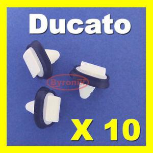 Fiat-Ducato-costura-lateral-en-Fundicion-clips-de-plastico-exterior-bumpstrip-Rub-Tiras