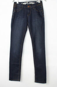 DESIGUAL Women The Fun Slim Fit Jeans Size W26 L32