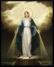 OUR LADY OF GRACE 8x10 Gold Stamped Blessed Virgin Mary Print Picture from Italy