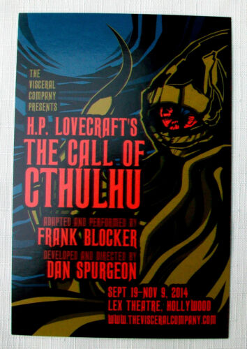 13 THE CALL OF CTHULHU theater play Postcard s H.P. LOVECRAFT Frank Blocker