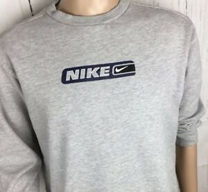 Details about Vintage NIKE Sweatshirt Crewneck Pullover 90s Spell Out Swoosh Youth XL 18 20