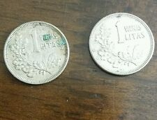 2x silver coins lithuanian 1 litas 1925