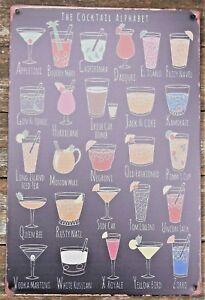 Cocktail-metal-tin-sign-vintage-cafe-pub-bar-retro-plaque-kitchen-club-alphabet