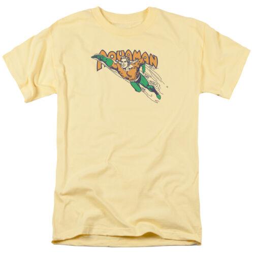 Aquaman Aqua Man SWIM THROUGH Licensed Adult T-Shirt All Sizes