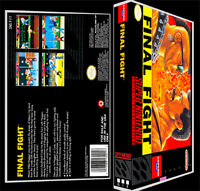 Final Fight - Snes Reproduction Art Case/box No Game.