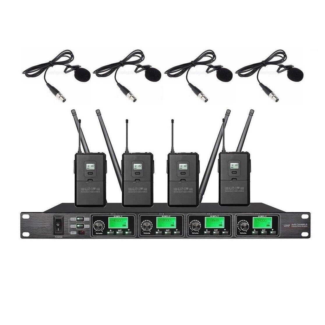 Micrófono de solapa con con con solapa Karaoke Micrófono Inalámbrico Uhf Profesional de escenario  ventas calientes
